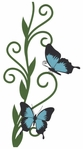Flower and Butterflies Page Corner Laser Die Cut