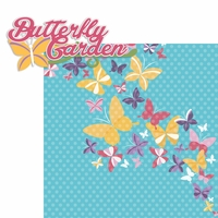 Flower and Garden: Butterfly Garden 2 Piece Laser Die Cut Kit