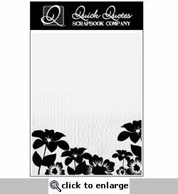Flowers Vellum Full Page Silhouette