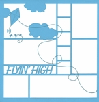 Flyin' High 12 x 12 Overlay Laser Die Cut