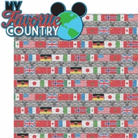 Food and Wine: My Favorite Country 2 Piece Laser Die Cut Kit