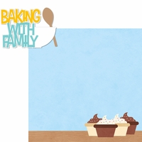 Food & Family: Baking With Family 2 Piece Laser Die Cut