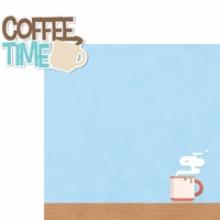 Food & Family: Coffee Time 2 Piece Laser Die Cut