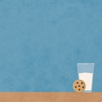 Food & Family: Milk And Cookies 12 x 12 Paper