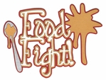 Food Fight! Laser Die Cut