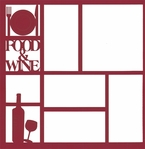Food & Wine 12 x 12 Overlay Laser Die Cut