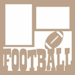 Football 12 x 12 Overlay Laser Die Cut