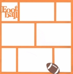 Football 12 x12 Photo Overlay Laser Die Cut