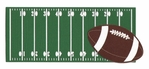 Football Field And Ball Laser Die Cut