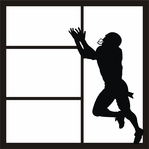 Football Player 12 x 12 Overlay Laser Die Cut
