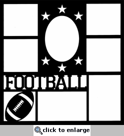 Football Star Frame 12 x 12 Overlay Laser Die Cut