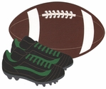 Football with Shoes Laser Die Cut