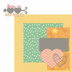 Forever Family: Born in our Hearts 2 Piece Laser Die Cut Kit