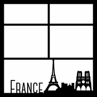 France 12 x 12 Overlay Laser Die Cut