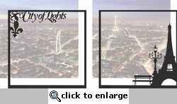 France: City Of Lights Double 12 x 12 Overlay Quick Page Laser Die Cut