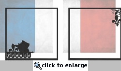 France: France Double 12 x 12 Overlay Quick Page Laser Die Cut