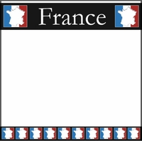 France Map 12 x 12 Paper