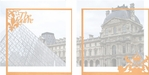 France: The Louvre Double 12 x 12 Overlay Quick Page Laser Die Cut