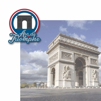 French Adventures: Arc de Triomphe 2 Piece Laser Die Cut Kit