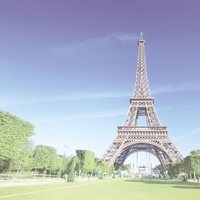 French Adventures: Eiffel Tower 12 x 12 Paper