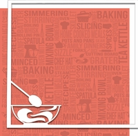 From Scratch: Mixing Bowl 12 x 12 Overlay Quick Page Laser Die Cut