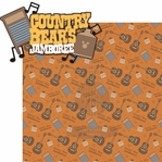 Frontier Land: Country Bear's Jam 2 Piece Laser Die Cut Kit