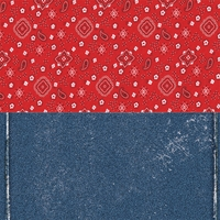 Frontier Land: Halvsies Bandana and Denim 12 x 12 Paper