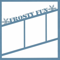 Frosty Fun 12 x 12 Overlay Laser Die Cut