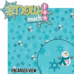 Frosty Fun: Snow Much Fun 2 Piece Laser Die Cut Kit