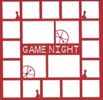 Game Night 12 x 12 Overlay Laser Die Cut