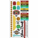 Game On:  Basketball 6 x 12 Cardstock Sticker Sheet