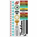Game On:  Football 6 x 12 Cardstock Sticker Sheet