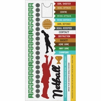 Game On:  Netball 6 x 12 Cardstock Sticker Sheet