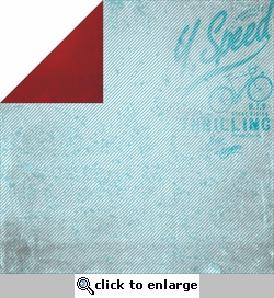 Garage Days: Gas Tank 12 x 12 Double-Sided Cardstock