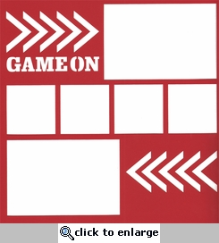 General Sports: Game On 12 x 12 Overlay Laser Die Cut