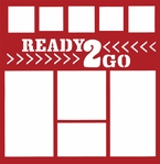 General Travel and Racing: Ready To Go 12 x 12 Overlay Laser Die Cut
