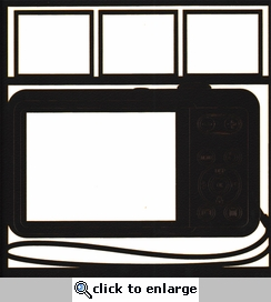 General Travel: Camera Photo Frame 12 x 12 Overlay Laser Die Cut-<font color=red> <b>we &hearts; this</b></font>
