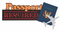 General Travel: Passport Required Laser Die Cut