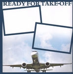General Travel: Ready for Take-Off 12 x 12 Overlay Quick Page Laser Die Cut
