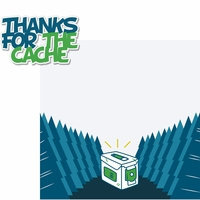 Geocaching: Thanks For The Cache 2 Piece Laser Die Cut Kit