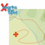 Geocaching: X Marks The Spot 2 Piece Laser Die Cut Kit