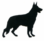German Shepherd Silhouette Laser Die Cut