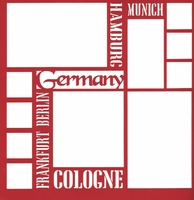 Germany 12 x 12 Overlay Laser Die Cut