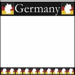 Germany Map 12 x 12 Paper