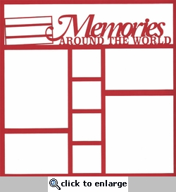 Germany Memories Around The World 12 x 12 Overlay Laser Die Cut