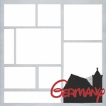 Germany Theme Park 12 x 12 Overlay Laser Die Cut