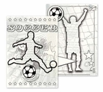 Get Your Game On: Soccer Canvas Colorables