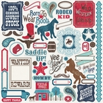 Giddy Up Boy: Elements 12 x 12 Sticker Sheet