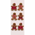 Gingerbread Men Mini Stickers