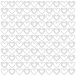 Glazed: Lily White With Big Hearts 12 x 12 Glazed Cardstock